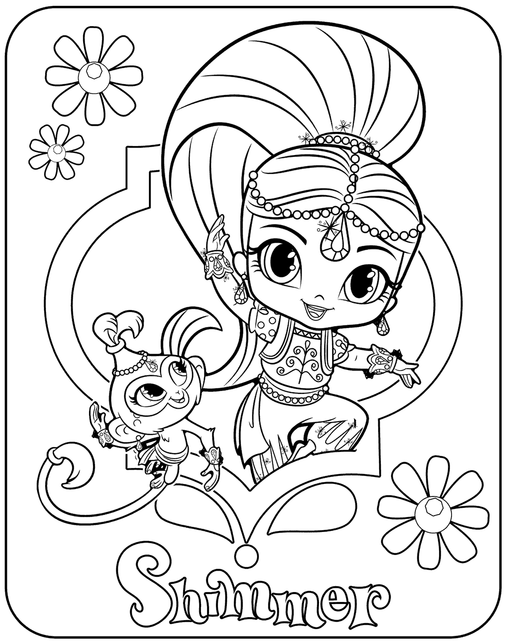 Shimmer And Shine Coloring Pages (With Images) Shimmer N Shine