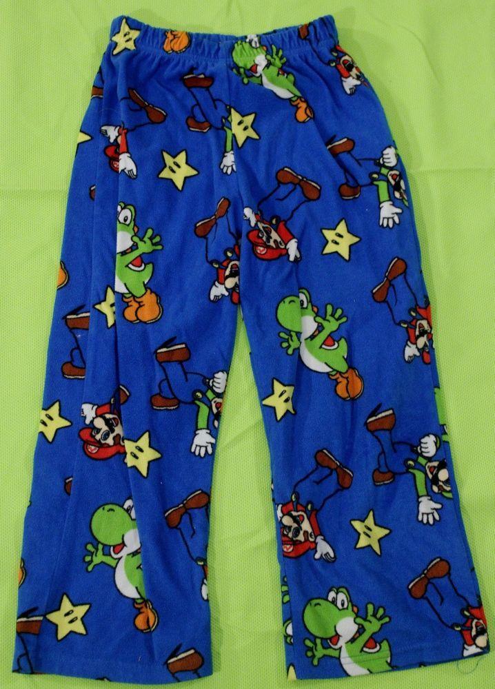 ec522751f4 Super Mario Bros Lounge Pants Sz 8 Boys Pajamas PJs Sleep Yoshi Luigi Blue  #Nintendo #LongPajamaBottoms