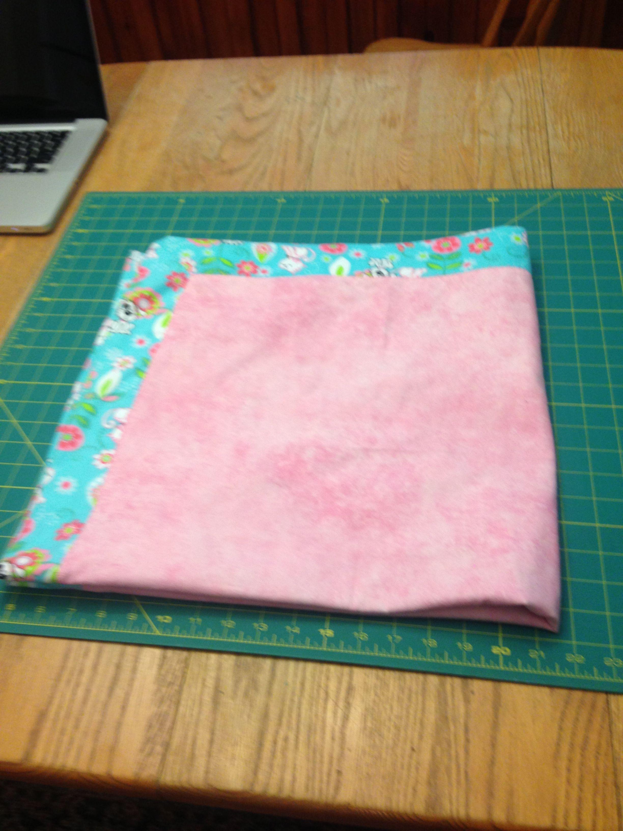 Self Binding Receiving Blanket Online Tutorial From