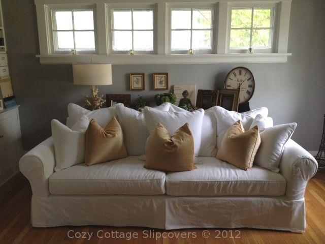Pillow Back Sofa Slipcover