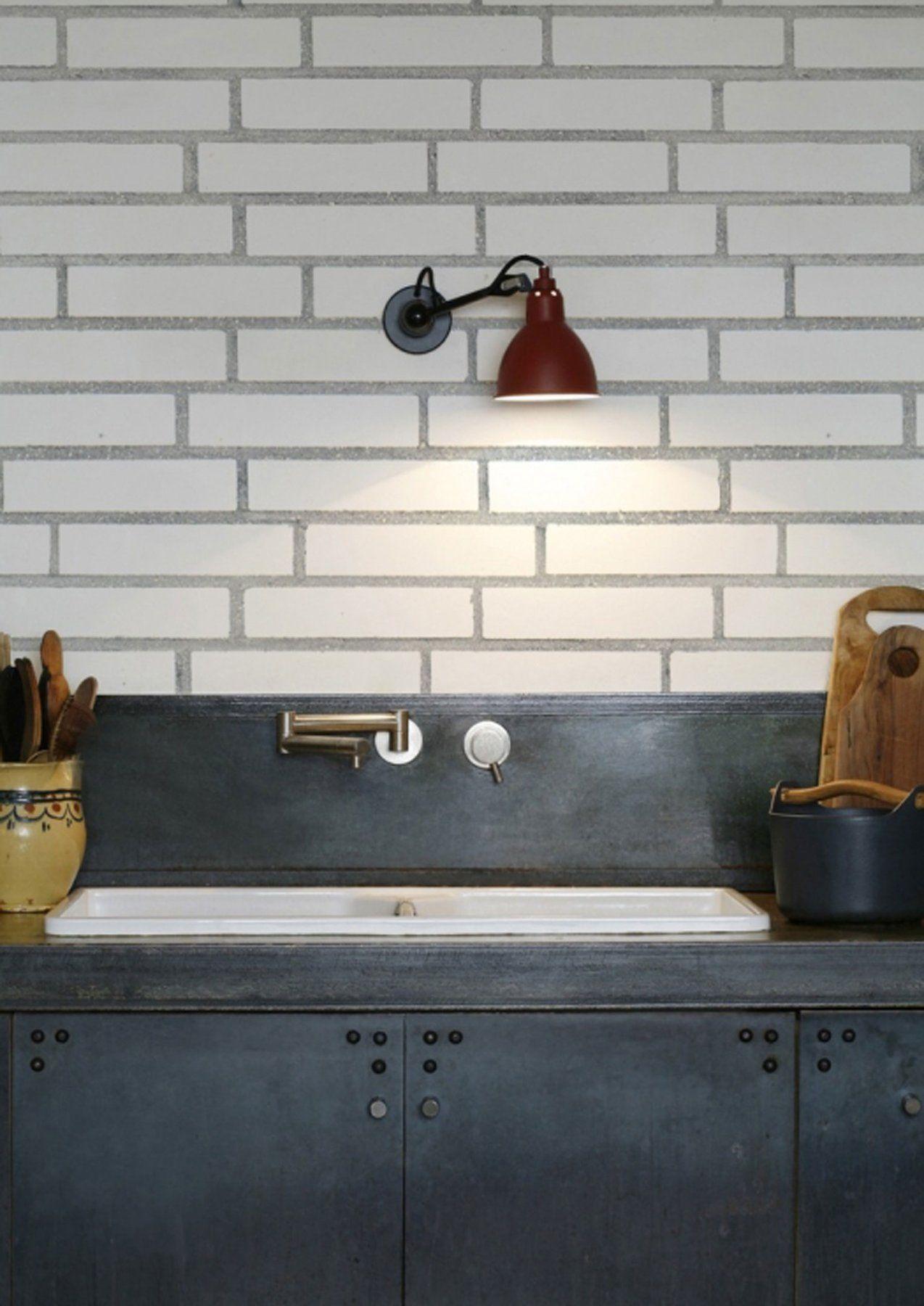 kitchenwalls wallpaper splashback stylish white bricks