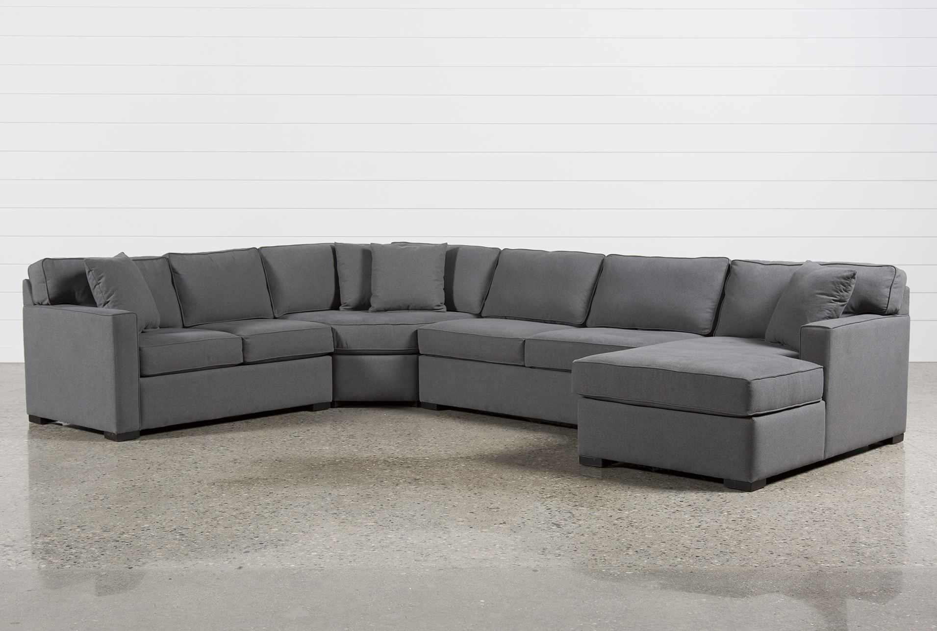 Alder Foam 4 Piece Sectional W Right Arm Facing Chaise Sectional Sofa With Recliner Modern Leather Sectional Sofas Grey Sectional Sofa
