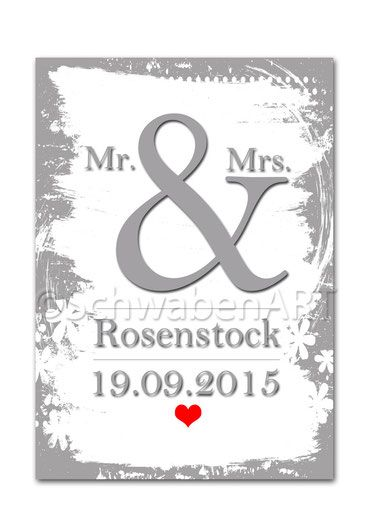 """Kunstdruck """"Mr. & Mrs."""""""