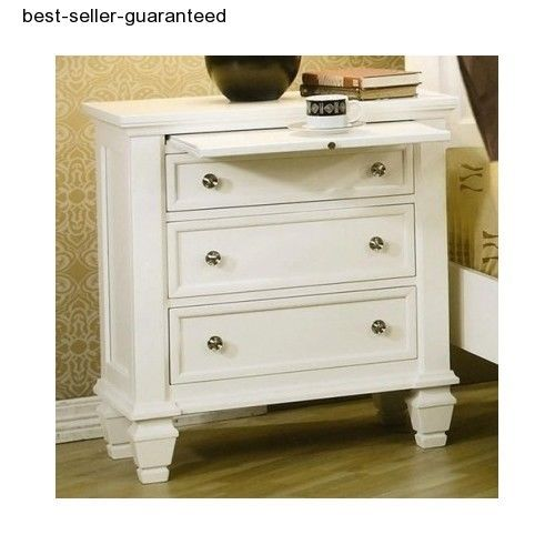 Wood Night Stand Bed Side Table Bedroom Traditional Nightstand Bedside Furniture #Traditional