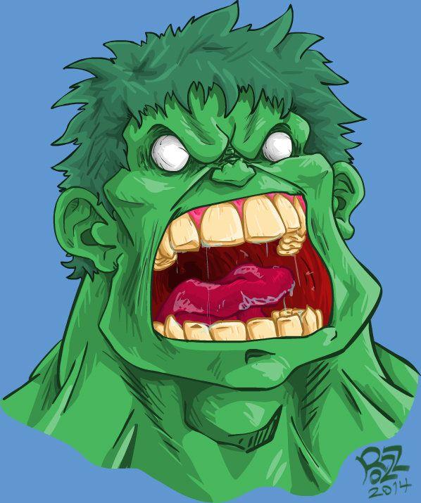 #HULK #Animated #Fan #Art. (2D Animator and Illustrator of Hulk) By: Ahmad Abu Al-RozPRO. ÅWESOMENESS!!!™ ÅÅÅ+  Outraged Hulk