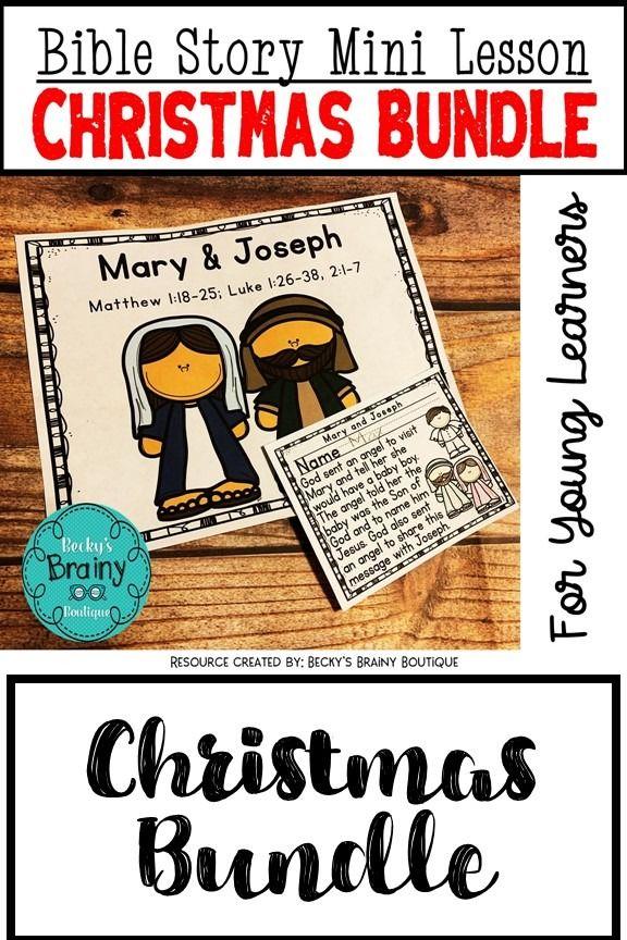 Bible Mini Lessons Christmas Bundle Mini lessons