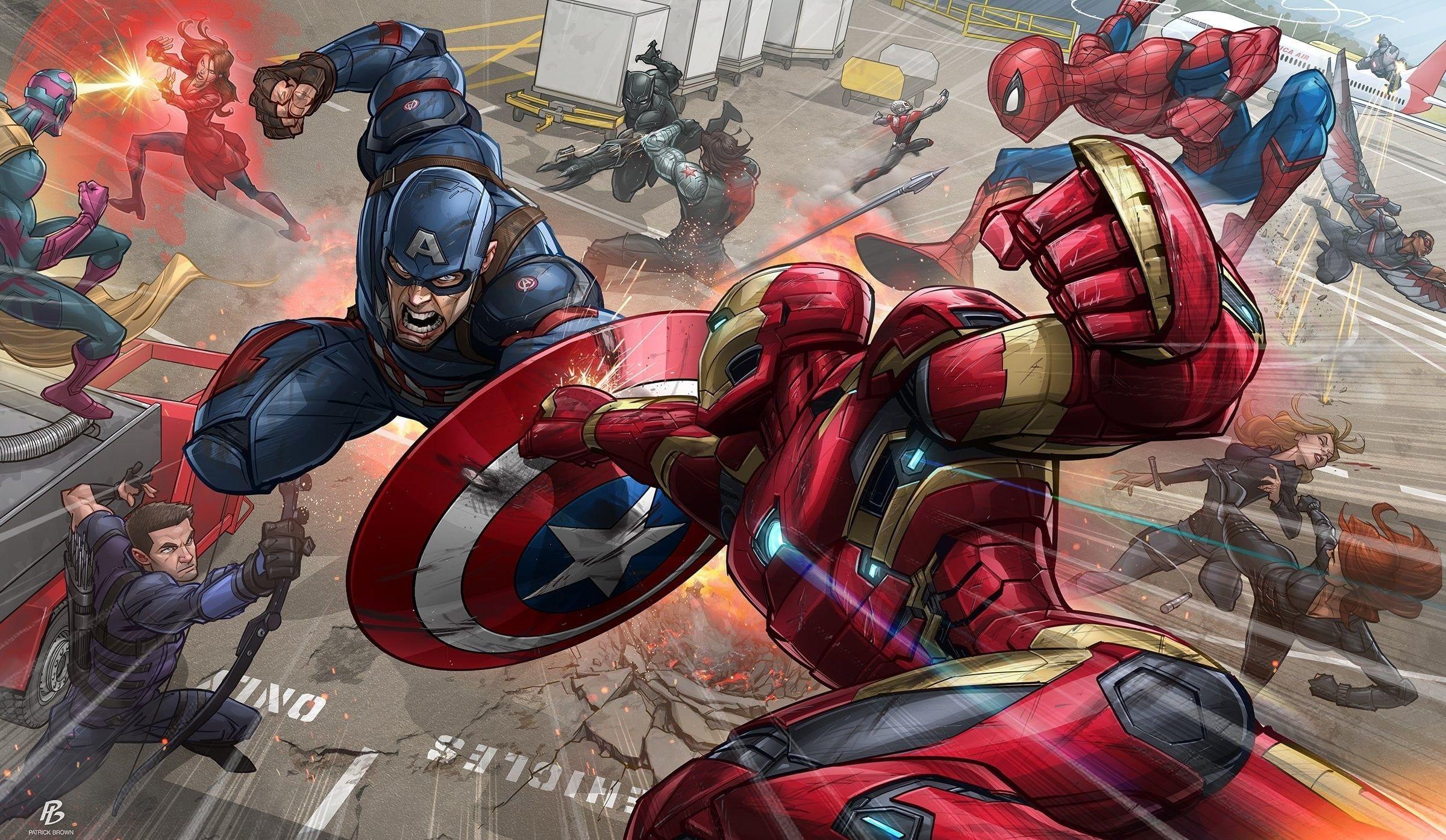Hd Wallpaper Marvel Avengers Civil War Wallpaper Iron Man Captain Avengers Wallpaper War Wallpaper Avengers Wallpaper Iron Man