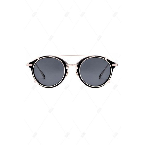 Punk Detachable Oval Sunglasses ($20) ❤ liked on Polyvore featuring accessories, eyewear, sunglasses, oval sunglasses and oval glasses