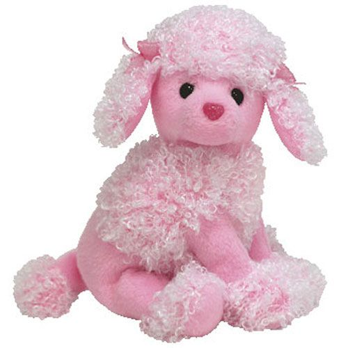 Pink poodle stuffed animal