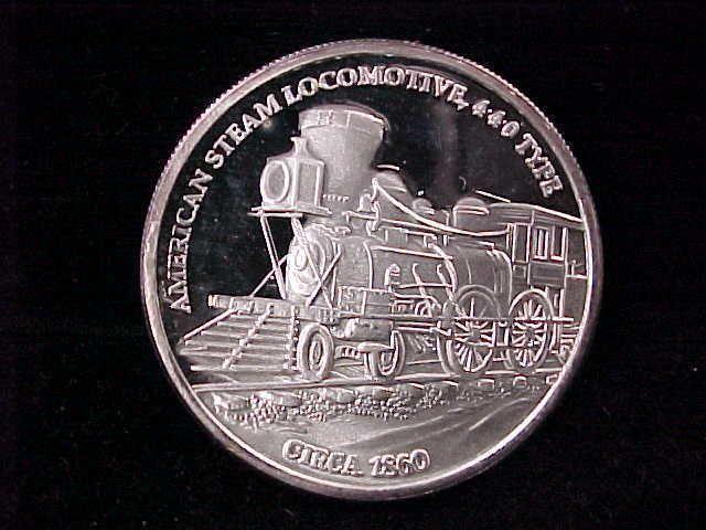 American Steam Locomotive 440 Type Circa 1860 1 Oz 999 Fine Silver Round Ebay Silver Bullion Ebay Silver