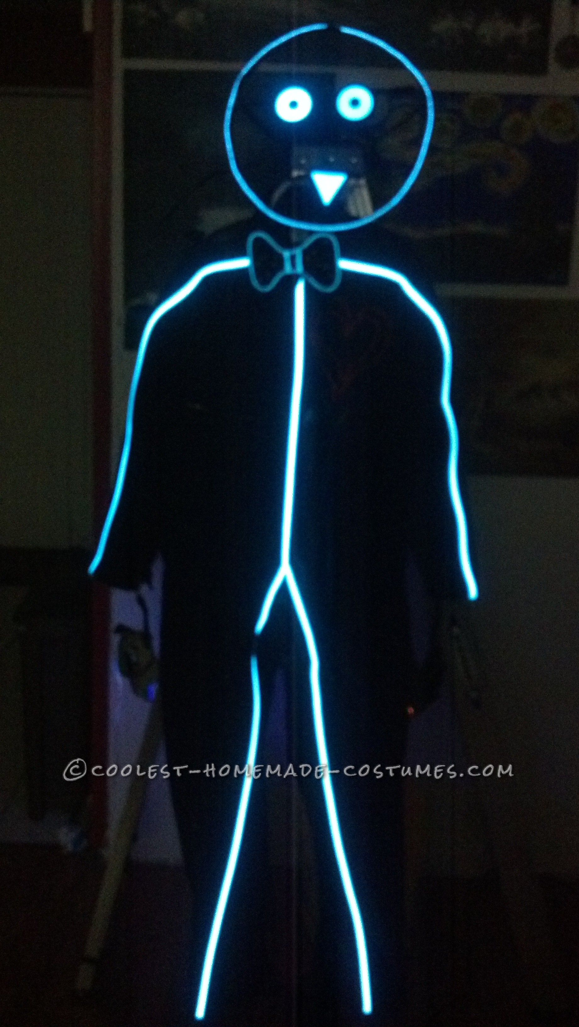 high power el stick figure costume | halloween | pinterest | stick