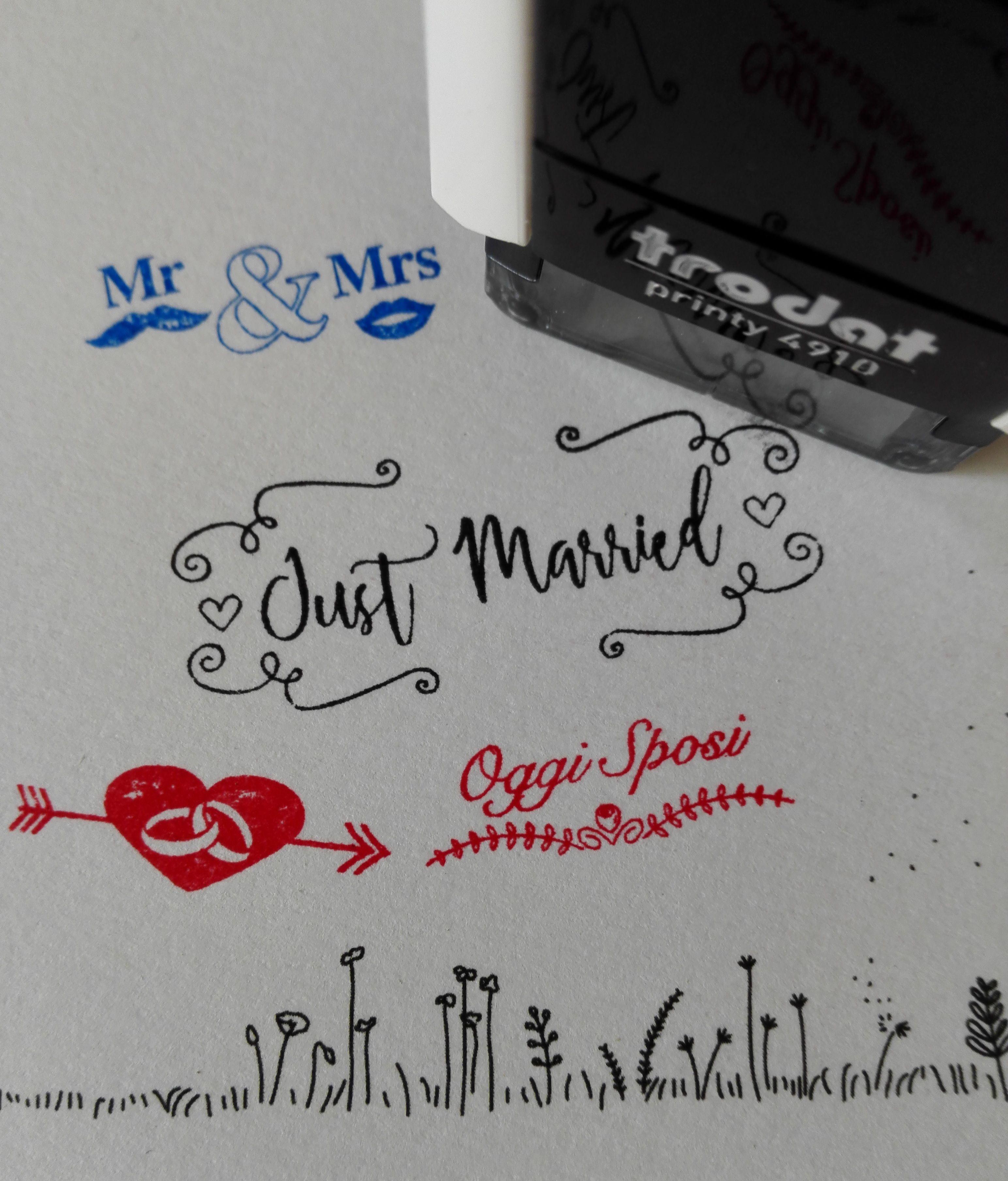 ca712f4871a3 Timbri personalizzati matrimoni Oggi sposi - Just married - Mr Mrs  fede   nuziale  nozze