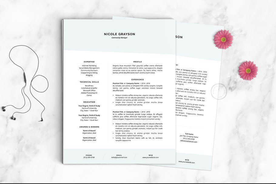 Resume Template The Nicole #Template#Resume#Templates#Nicole ...