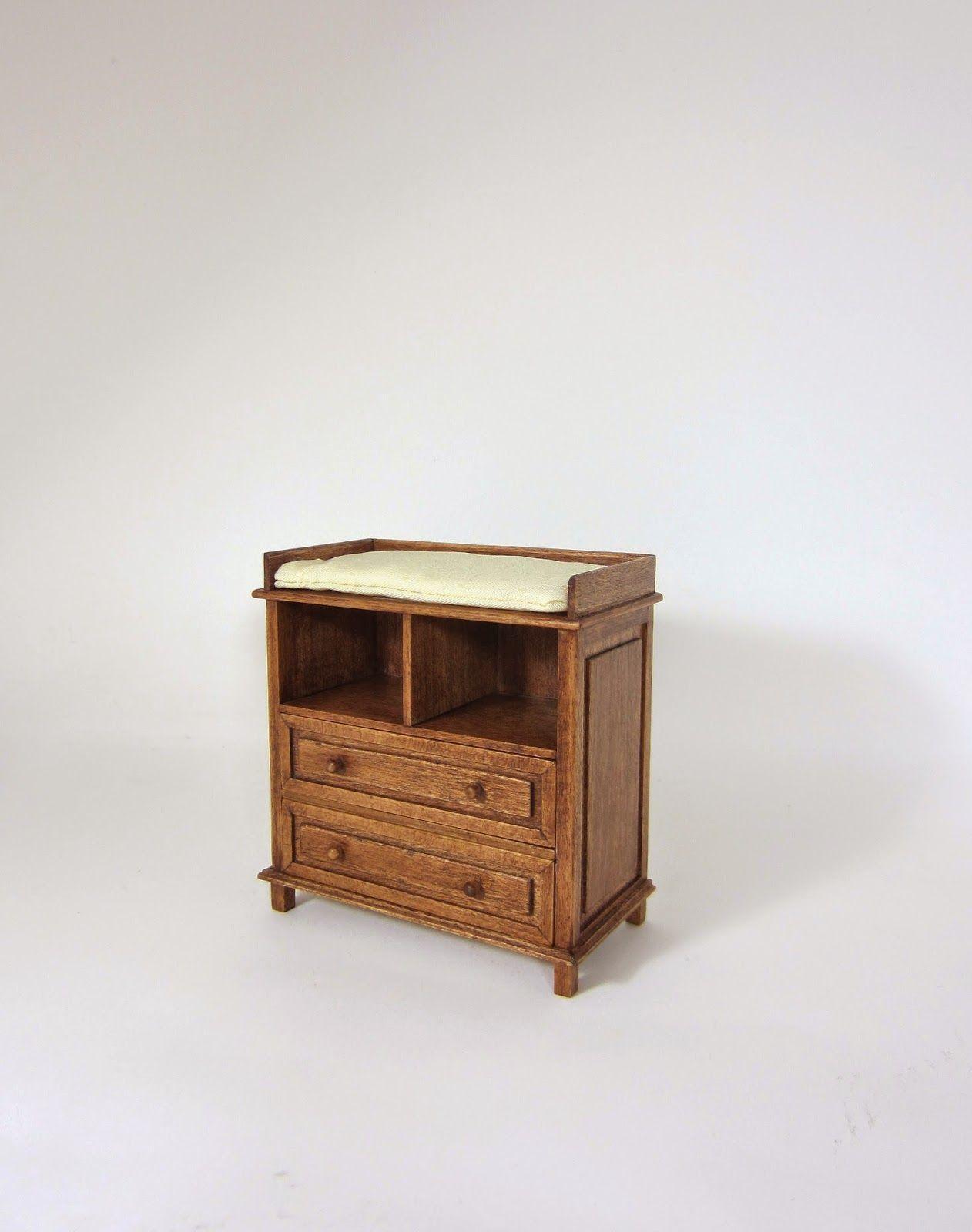 Mueble cambiador para bebé realizado en madera de cerezo. | Mi ...