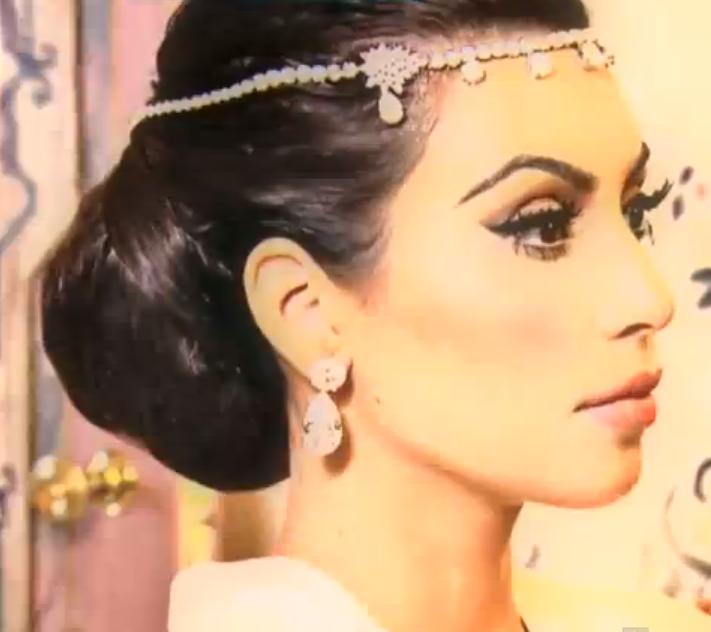 kim kardashian wedding reception hair wwwpixsharkcom