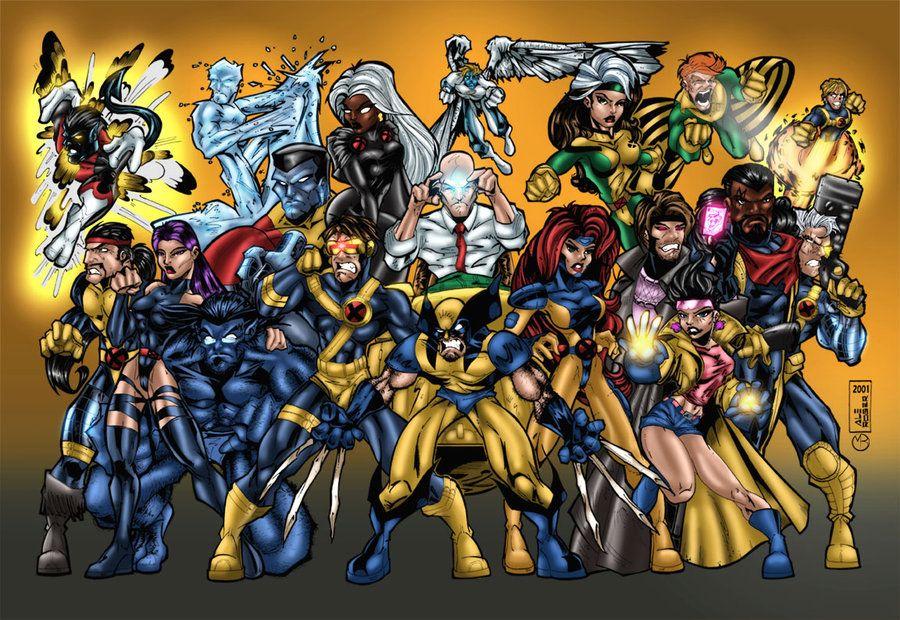 X Men Group X Men Retro Comic Book Comic Books Art
