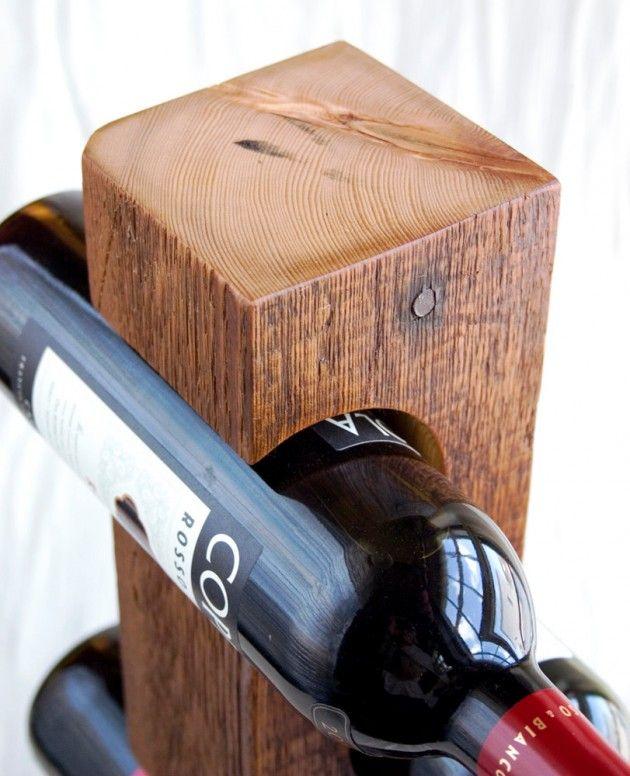 Flaschenhalter aus Holz