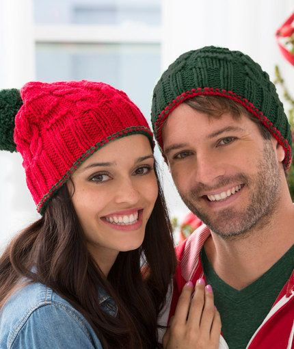 Christmas Gift Beanies Free Knitting Pattern from Red ...
