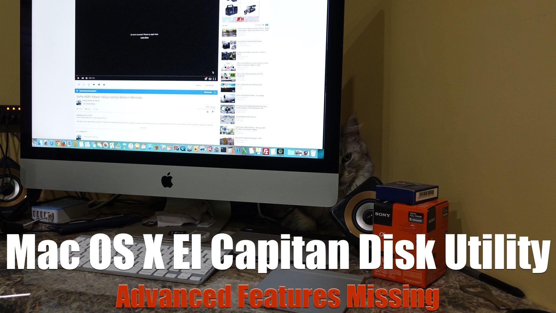 Mac OS X El Capitan Disk Utility Missing Features Fix | HOW