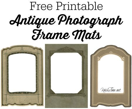 image regarding Printable Photo Mat Templates known as Common Image Mat Body Printable KnickofTime/Cost-free