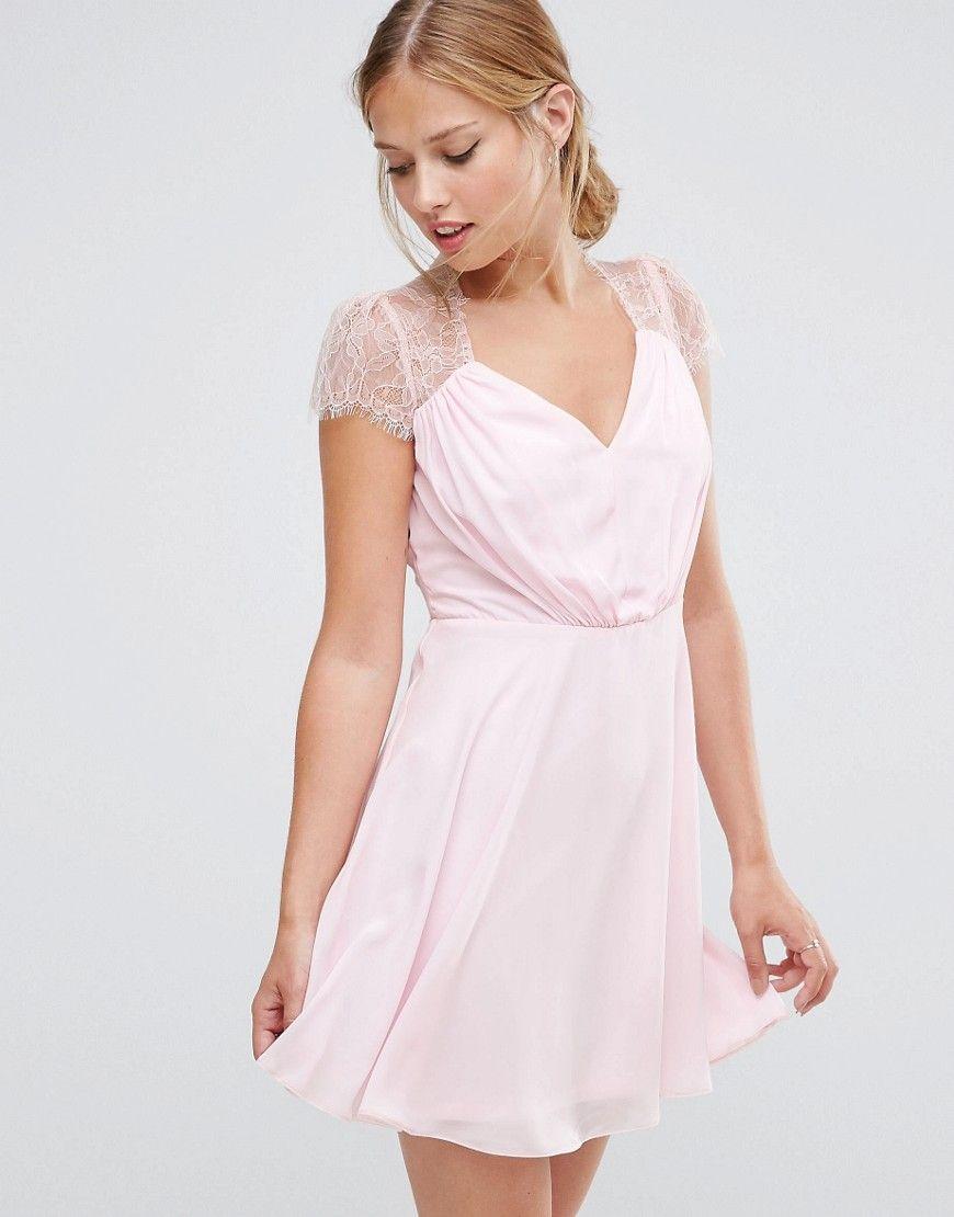 ASOS Kate Lace Mini Dress - Pink  a0377e7269d73