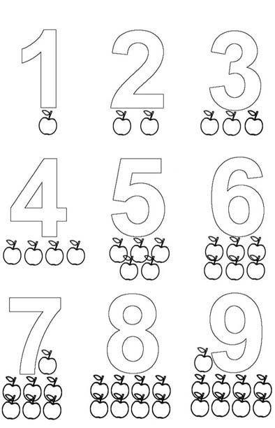 moldes de números para imprimir e colorir | MATE | Pinterest | Math ...