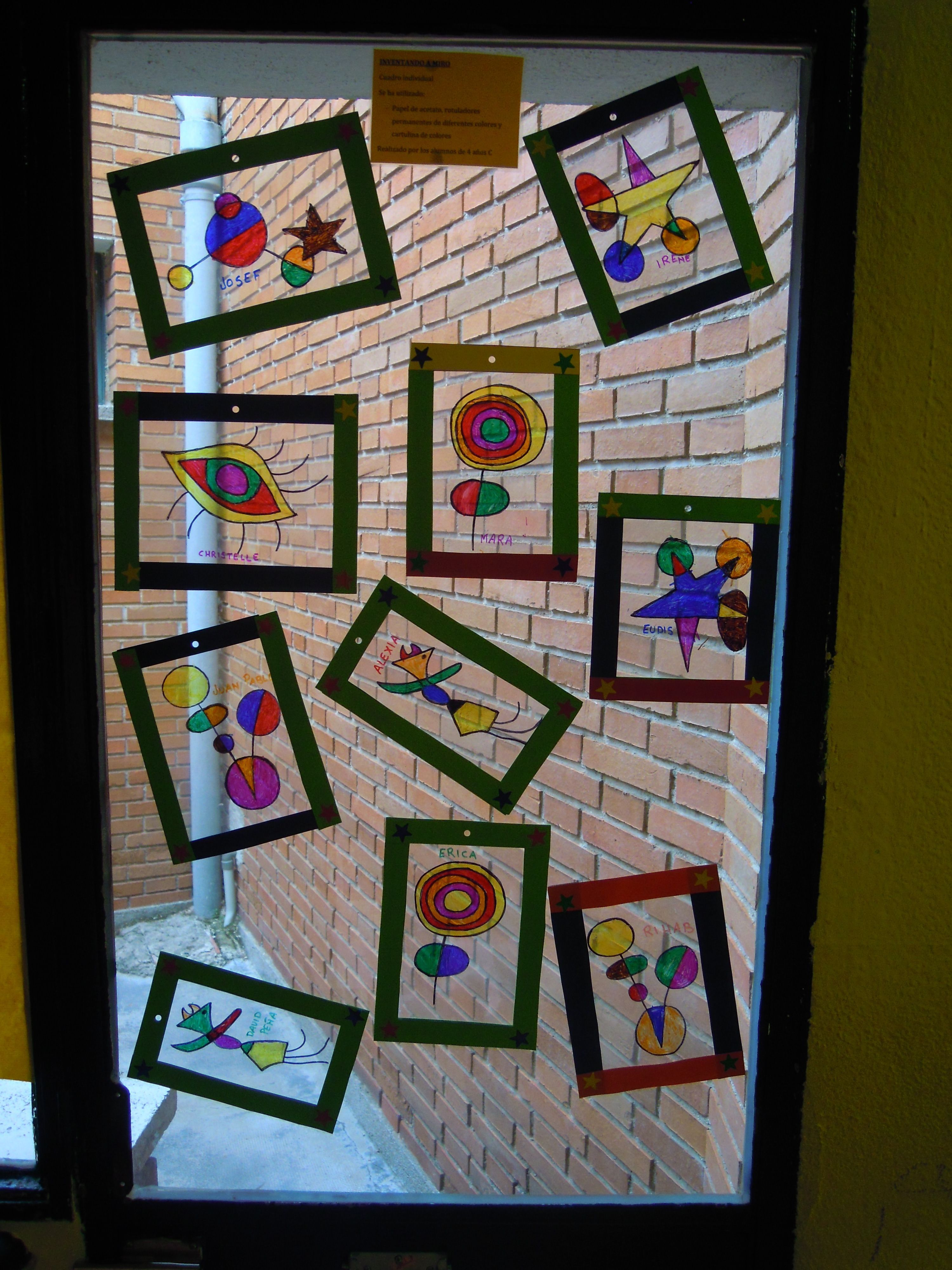 Realizado por los alumnos de 4 años en acetato art ideas