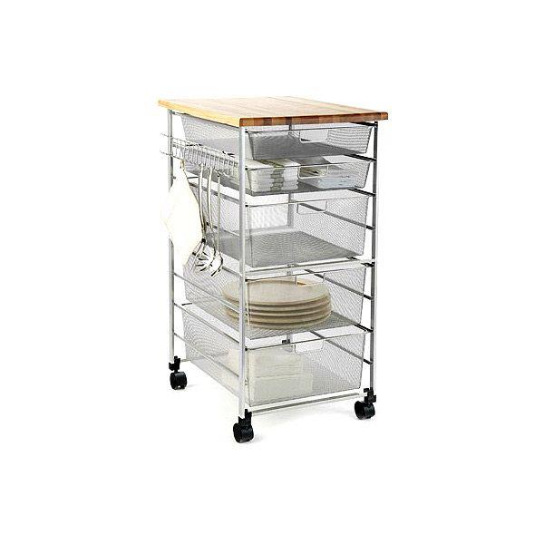 Platinum Kitchen Cart On Container