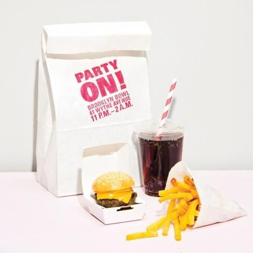 Keep the fun going at your wedding celebration by serving a late-night treat that riffs on an endorphin-boosting throwback: the Happy Meal. Ours comes with a slider, fries, and soda to refuel guests at the after party. As for the prize? It's not a toy but an invite to the night's after-party, which is stamped on the bag.