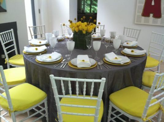 Yellow Wedding Table Settings - La Prima Catering