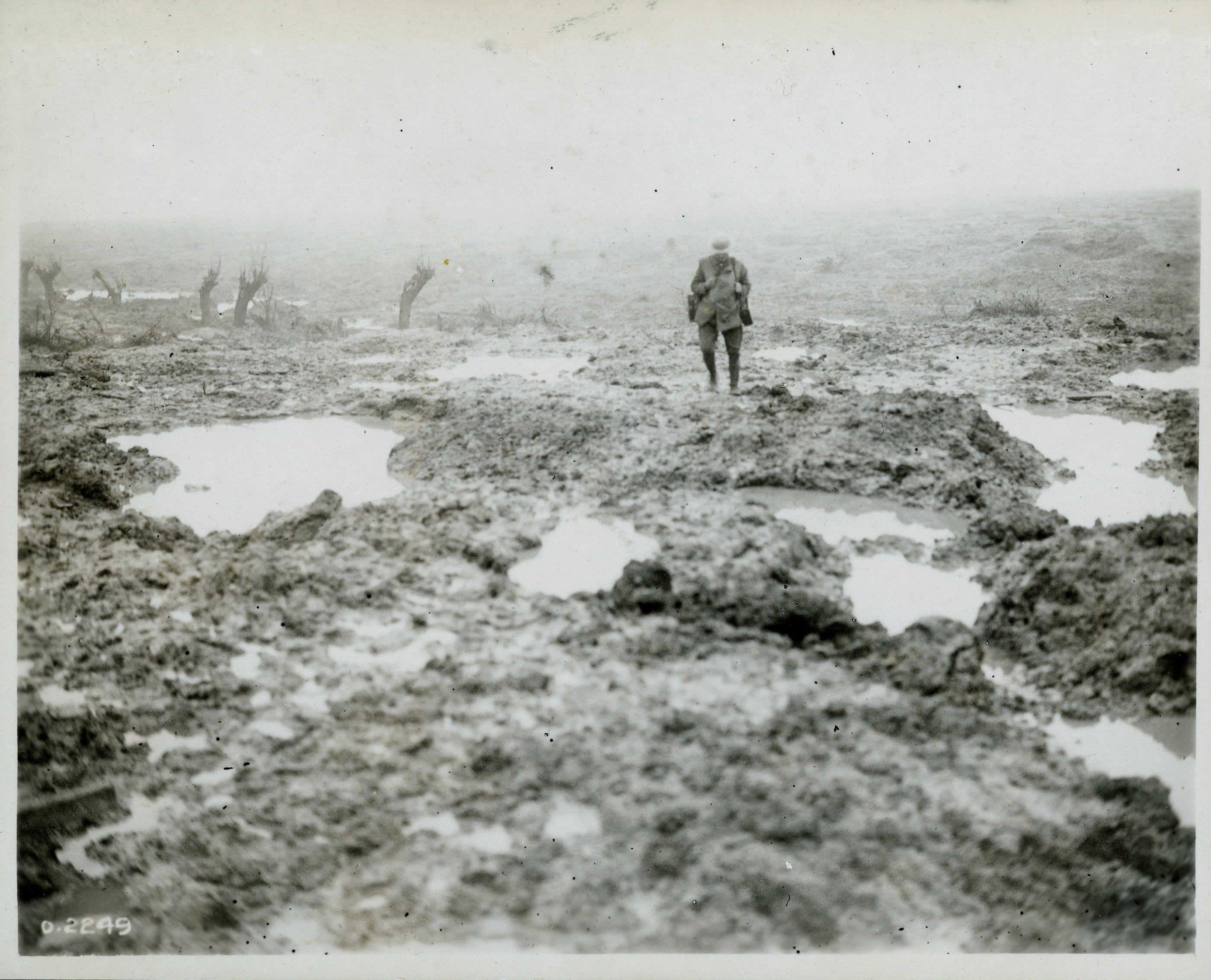 Lone Canadian soldier in Passchendaele. Europe WWl The Great War ...