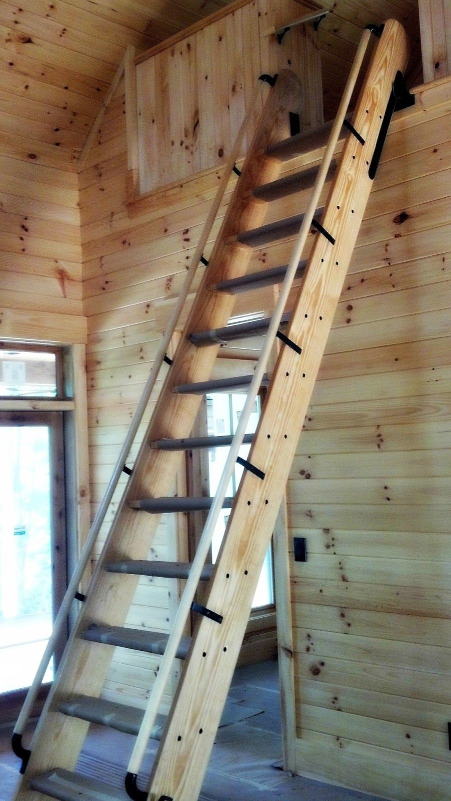 Gralin Associates Inc Retracting Ship S Ladder Loft Stairs Tiny House Loft Stairs Design