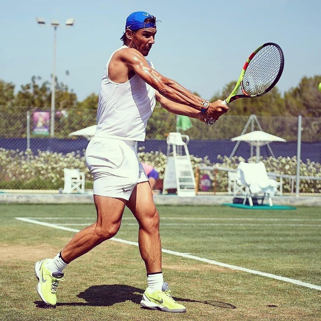 Atp Tour On Instagram Can Rafaelnadal Lift A Third Wimbledon Nadal Grasscourt Training Wimbledon Sw19 Tennis Atpt Wimbledon Tennis Tennis Players