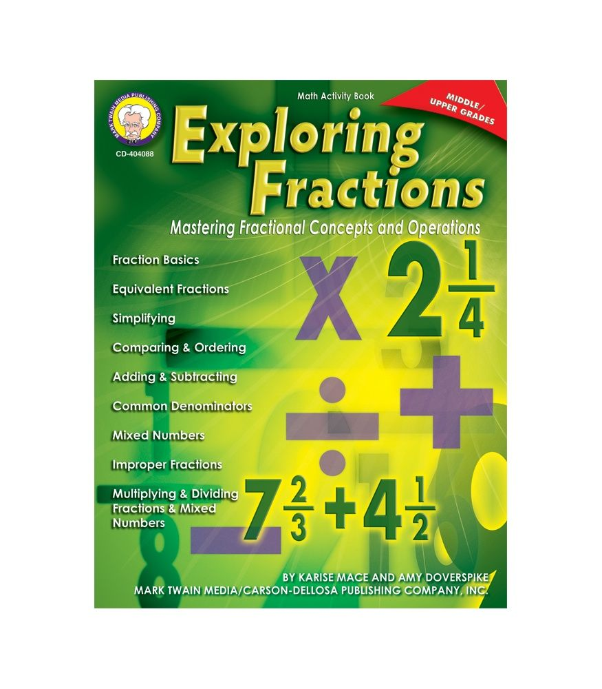 Exploring Fractions Middle Upper Grades Workbook   Math Fun ...