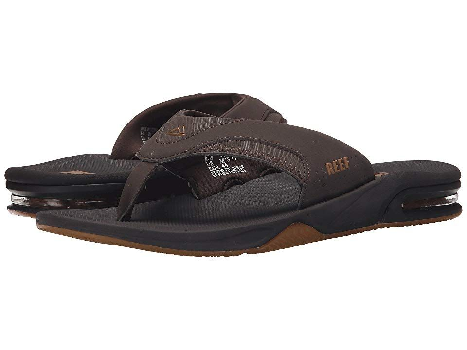 c86b6c3dc66 Reef Fanning (Brown Gum 2) Men s Sandals. Where will the weekend take you   Stay primed for beach outings and backyard chill sessions in the classic  Reef ...