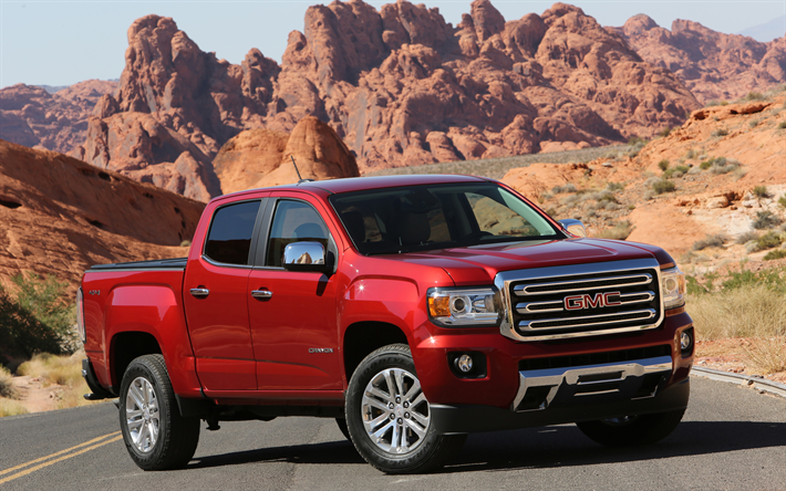 Download Wallpapers Gmc Canyon Denali 2018 4k Front View New
