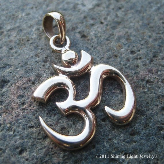 Bronze om symbol necklace charm gold tone by shininglightjewelry bronze om symbol necklace charm gold tone by shininglightjewelry craft supplies tools jewelry aloadofball Gallery