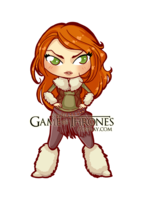 Ygritte Chibi/Puppet by PrincessAndDragon