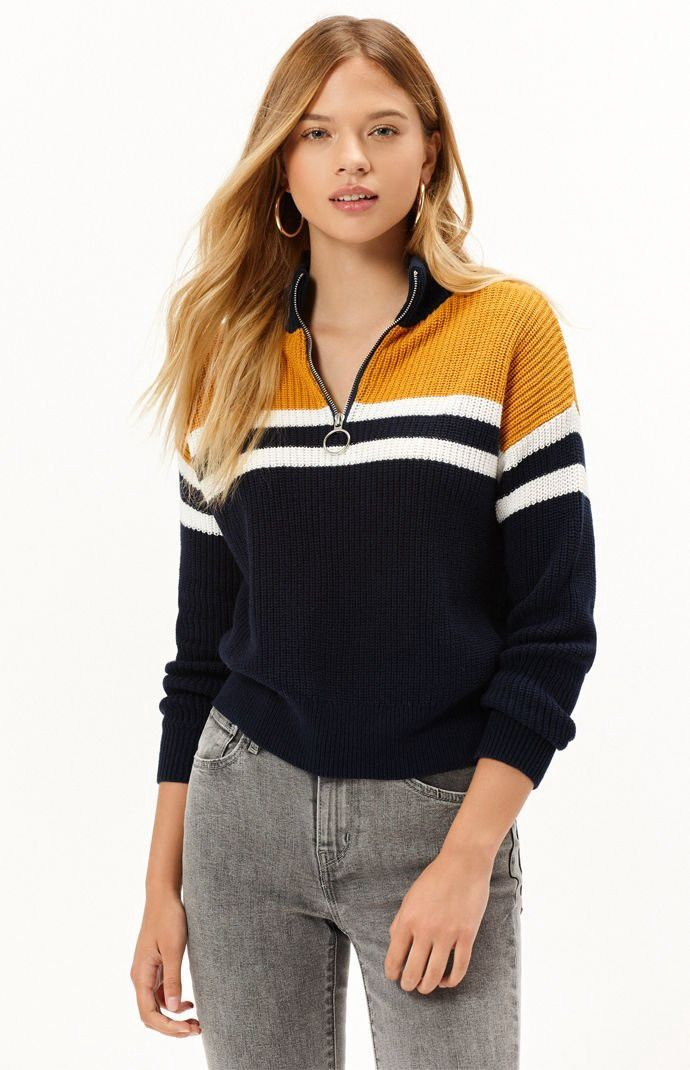 b94e0bb856c La Hearts Chunky Zip Up Sweater - XS