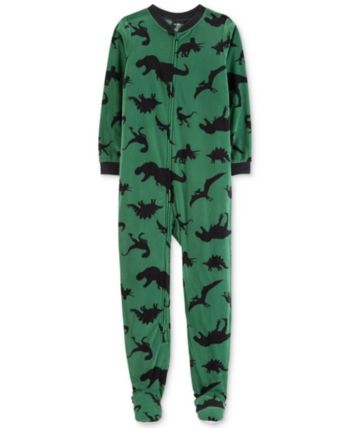 d979ae62125c Carter s Little   Big Boys 1-Pc. Dinosaur-Print Footed Pajamas ...