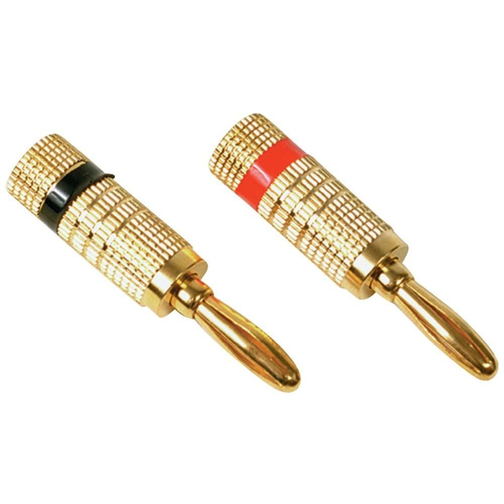 RCA AH10R Deluxe Banana Plugs, 2 pk. Terminates speaker wires to ...