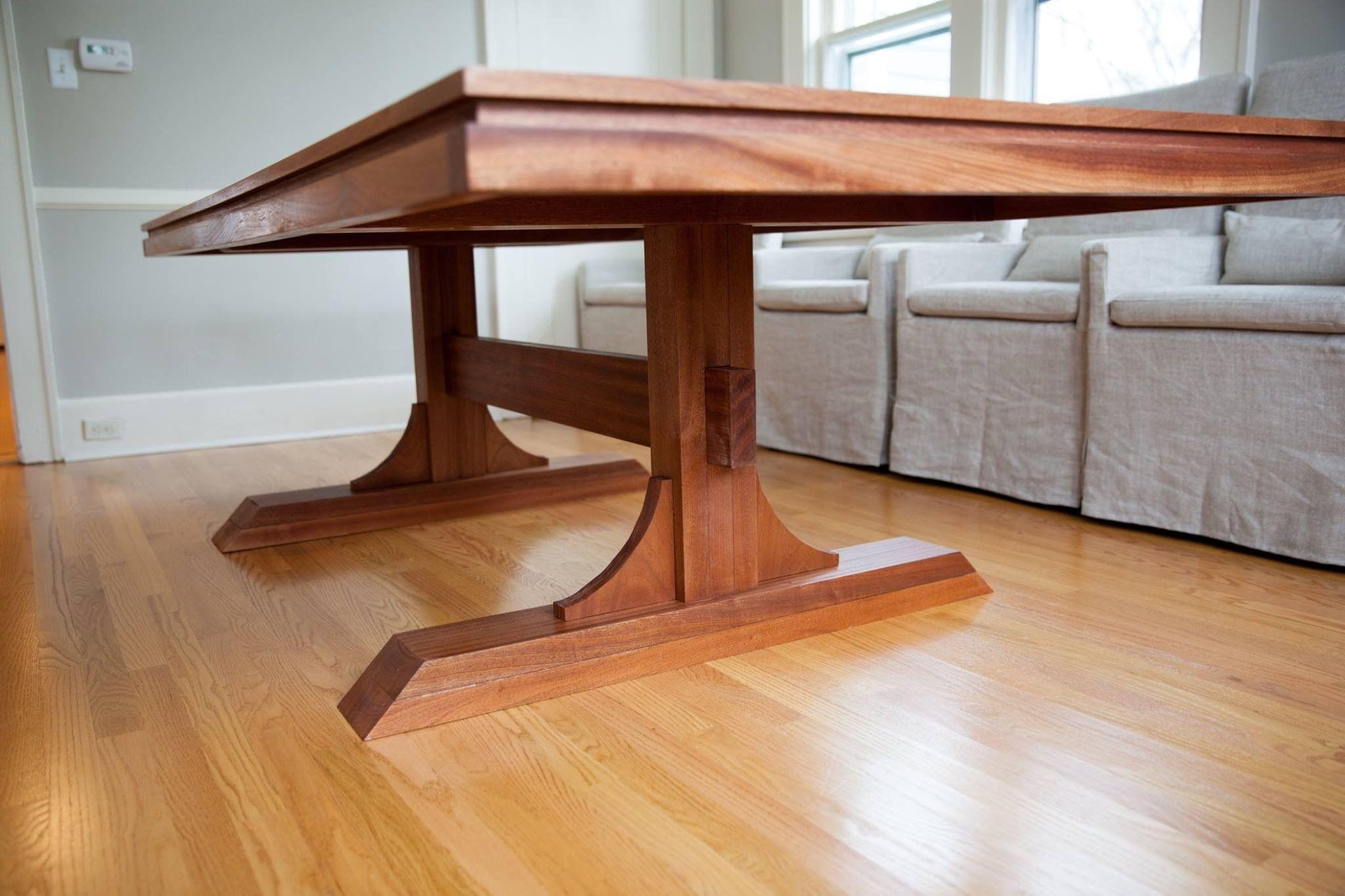 Mahogany Double Pedestal Farmhouse Dining Table Do It