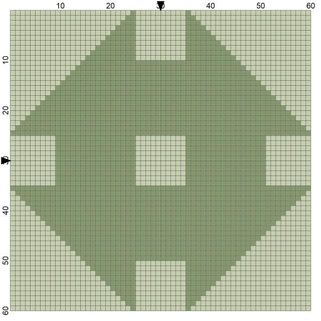 Free Needlepoint Patterns of Popular Quilt Blocks: Churn Dash Quilt Block Needlepoint Coaster