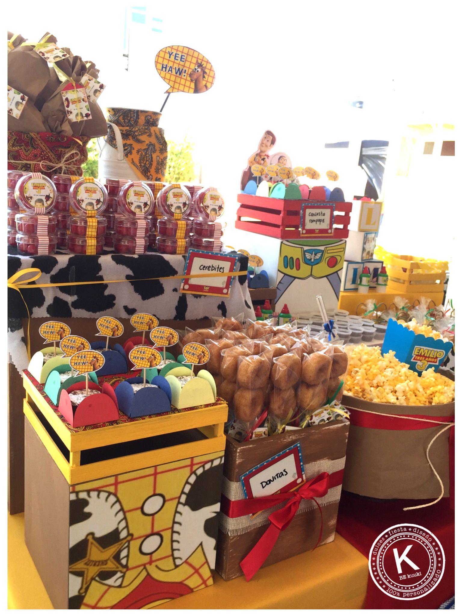 Mesa De Dulces Candy Bar Cumpleaa Os Toy Story Fiesta Woody