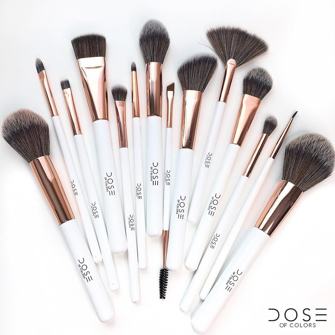 Dose of Colors en México Makeup brush set, Vegan makeup
