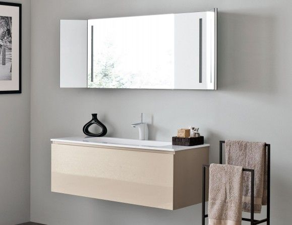 Infinity I09 Modular Italian Bathroom Vanity In Turtle Dove