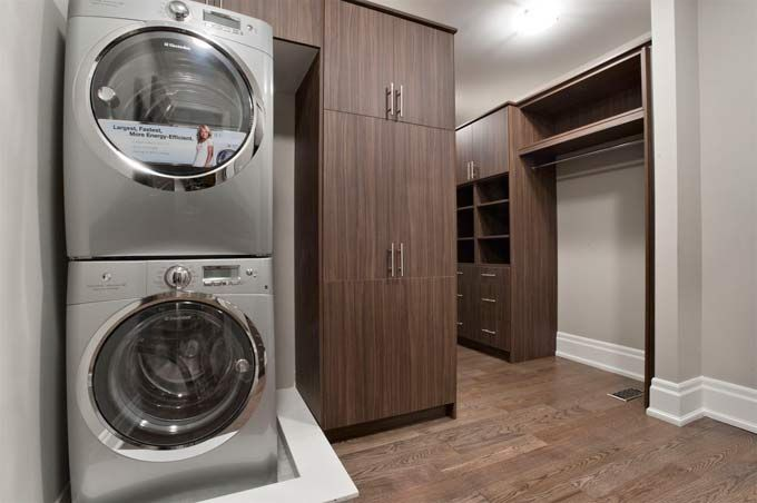 A 2nd Washer And Dryer In A Master Walk In Closet Home Master Closet Home Addition