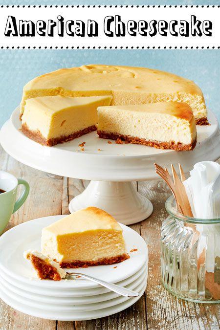 american cheesecake so geht das original backen keksboden kuchen leckere kuchen und. Black Bedroom Furniture Sets. Home Design Ideas