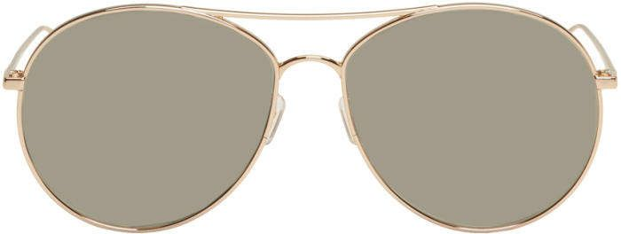 3fe990e1a2 Gentle Monster Gold and Silver Ranny Ring Aviator Sunglasses ...