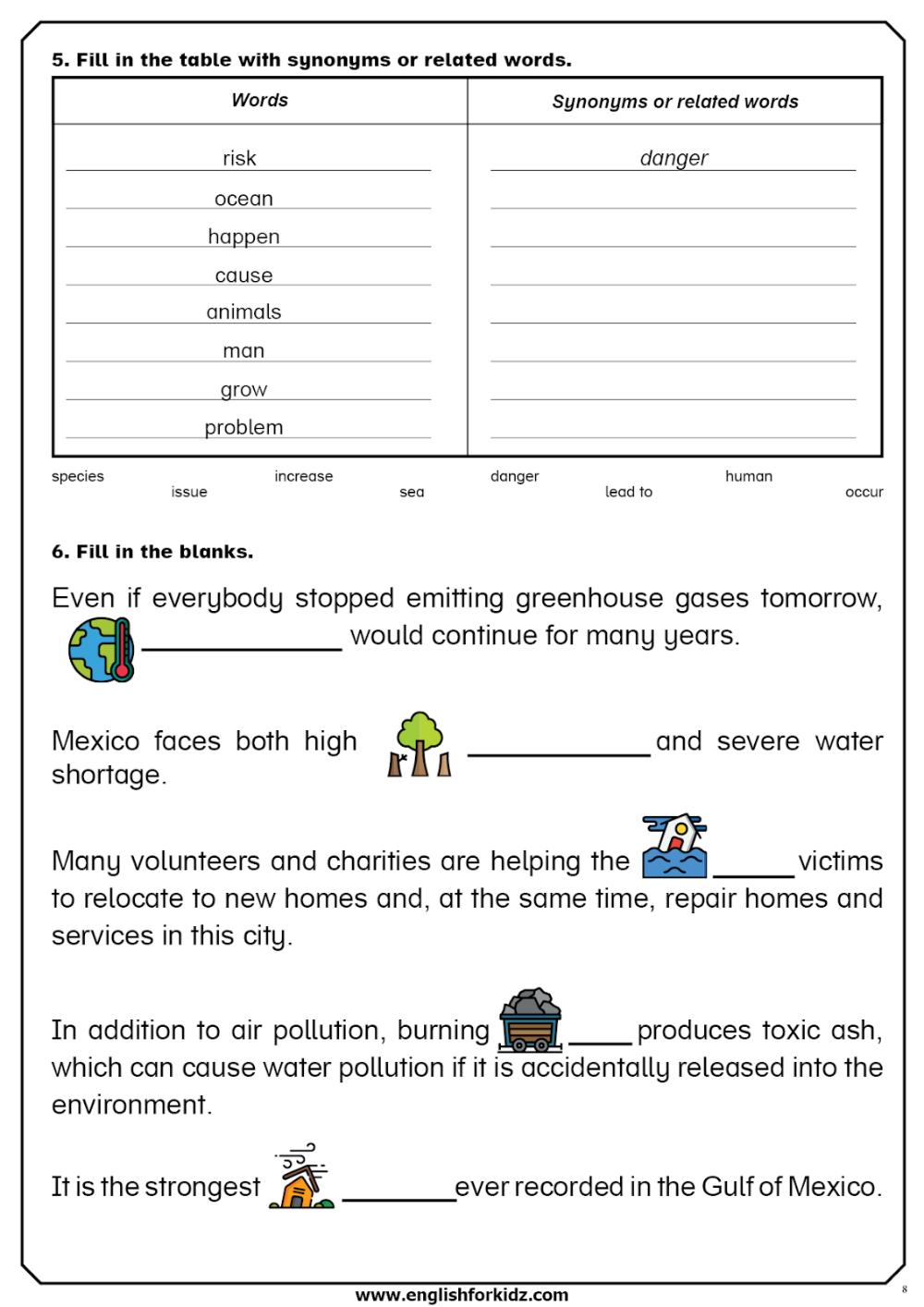 Global Warming Reading Comprehension Worksheets Flashcards Juegos En Ingles Aprender Ingles Vocabulario Vocabulario [ 1414 x 1000 Pixel ]